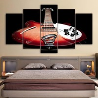Vintage guitar music instrument painting poster Home Decor wall picture