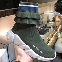 BALENCIAGA Speed stretch-knit high-top sneakers 5 colors-4