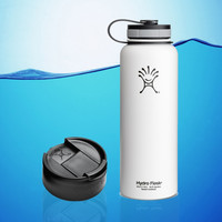 Hydro Flask 40 Oz Insulated Stainless Steel Water Bottle White + Hydro Flip Cap