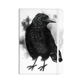"""Sophy Tuttle """"Crow"""" Black White Everything Notebook"""