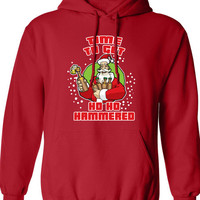 Time to get Ho Ho Hammered Hoodie Christmas shirt Christmas Party shirt Hooded Sweatshirt Funny t-shirt x t shirt x beer DT-640