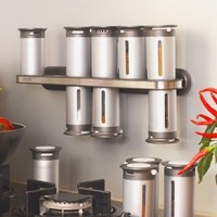 12 Canister - Wall Mount Zevro® Zero Gravity™ Spice Rack :: Welcome to NeatlySmart™ :: Good things for your home & family™