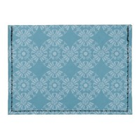 Pretty Floral Teal Pattern Card Wallet