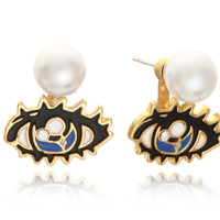 2016 fashion Eye pearl earrings ,  a perfect gift !