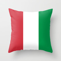 The National Flag of Italy - Authentic Version Throw Pillow by LonestarDesigns2020 - Flags Designs +