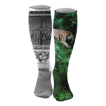 Tiger Cage knee socks