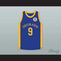 Drake 9 Degrassi Community School Panthers Home Basketball Jersey with Patch