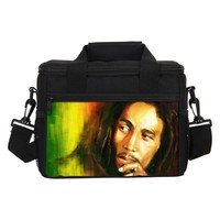 Lunch Bags For Men Women Fashion Bob Marley Printing Cooler Insulated Lunch Bags Lancheira Thermo Lunch Box Food Picnic Handbags