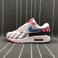 Nike Air Max 1 Parra White / Multe Color Sport Running Shoes - Best Online Sale