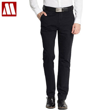 Spring Cotton pant men's casual trousers mens straight business pants outdoors for Male