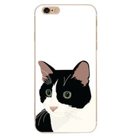 Cute Cat Case Cover for iPhone 6 6s Plus iPhone 7 7plus + Gift Box-461