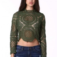 Nellie Laced Crop Top