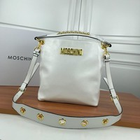 Moschino Women's Leather Bucket Inclined Shoulder Bag #42481 - Best Deal Online