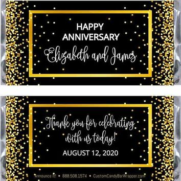 Confetti Anniversary Candy Bar Wrappers