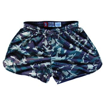 Women's Army Camo Sublimated Reversible Lacrosse Shorts
