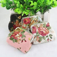 2016 Hot On Sale Wallets For Womens flower Pattern Female Wallet Card Holder Coin Purse China wallet ladies Lucky porte monnaie