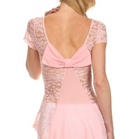 Bow Do You Lace Top - Pink