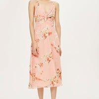 Twist Front Floral Mini Dress | Topshop