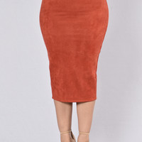 Of My Dreams Skirt - Rust