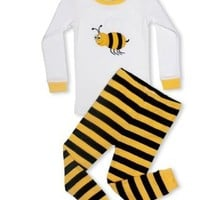 """Leveret Little Boys, Girls """"Bumble Bee"""" 2 Piece Pajama 3 Toddler"""