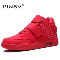 Hot Sale Men Casual Shoes Red Bottoms Shoes For Men High Top Leather Shoes Men Flats Chaussure Homme Zapatos Hombre