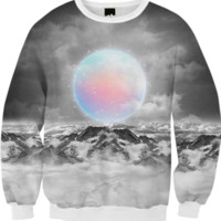 Places Neither Here Nor There (Guardian Moon) Unisex FALL Sweatshirt created by soaringanchordesigns   Print All Over Me