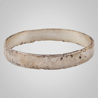 Authentic Ancient Viking Ring Silver over Bronze C.866-1067A.D. Size 11   (20.7mm)(BRR697)