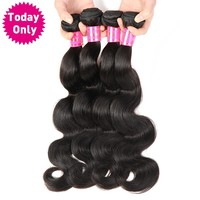 Brazilian Body Wave Bundles 100% Human Hair Weave Bundles Natural Color Hair Extension Non Remy Hair Can Buy 3 or 4