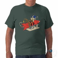 Wile E. Coyote Launching Red Rocket Tshirt from Zazzle.com