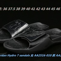 Air Jordan Hydro 7 Sandals AA2516/AA2517-010 Size 36---47