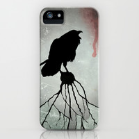The raven iPhone & iPod Case by Barruf