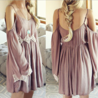 Lace Strappy Loose Dress B0014677