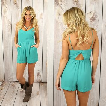 Just A Little Jaded Romper