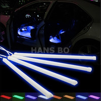Car Interior Music Led Light Kit Multi-Color Accent Glow Neon Remote Control Cigarette Lighter Atmosphere Fade Jump
