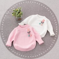 2018 Children Winter Clothes Sweaters Girls And Long-sleeved Sweater 0 To 3 Years Old Baby Sweet Render Unlined Upper Garment