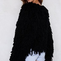 Bad Romance Shaggy Cardigan