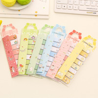 1 Pics Kawaii Paper Cute Post It Sticky Bookmark Flags Sticky Note Korean Stationery Office Supplies Post It Memo Pad Notepad