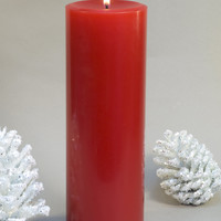 Red Pillar Candles 3 x 9""