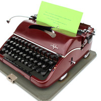 Working typewriter Groma excellent working condition fully serviced new ribbon 1953 portable industrial