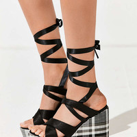 Intentionally Blank Classified Plaid Platform Sandal | Urban Outfitters