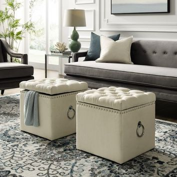 Silver Orchid Gish Storage Ottoman | Overstock.com Shopping - The Best Deals on Ottomans