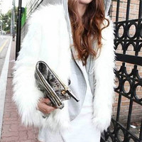 Fur Long Sleeves Vintage Coat