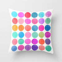 Colorplay 8 Throw Pillow by Garima Dhawan