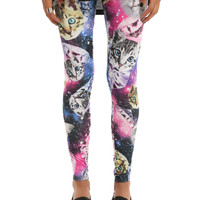 Cats Diamonds Space Leggings