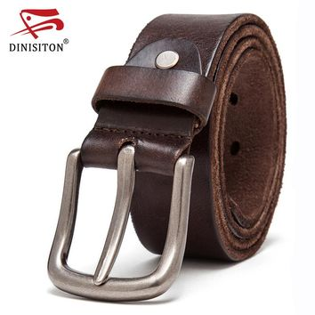 Genuine Leather Belt Top Layer Belts For men Vintage The First Waistband Strap High Quality Alloy Buckle