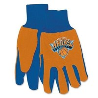NEW YORK KNICKS ADULT TWO TONE SPORT UTILITY GLOVES NEW & LICENSED