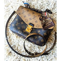 LV Louis Vuitton Classic Women Shopping Bag Leather Crossbody Satchel Shoulder Bag