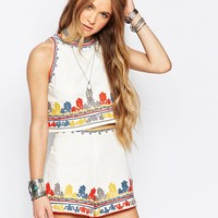 Glamorous Embroidered Vest at asos.com