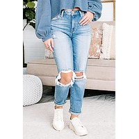Cindy Faye Relaxed High Rise Jeans