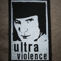 Clockwork Orange Back Patch - Print, Screen Print, Punk, Patch, Stencil, Art, Horror, Stanley Kubrick, Ultra Violece